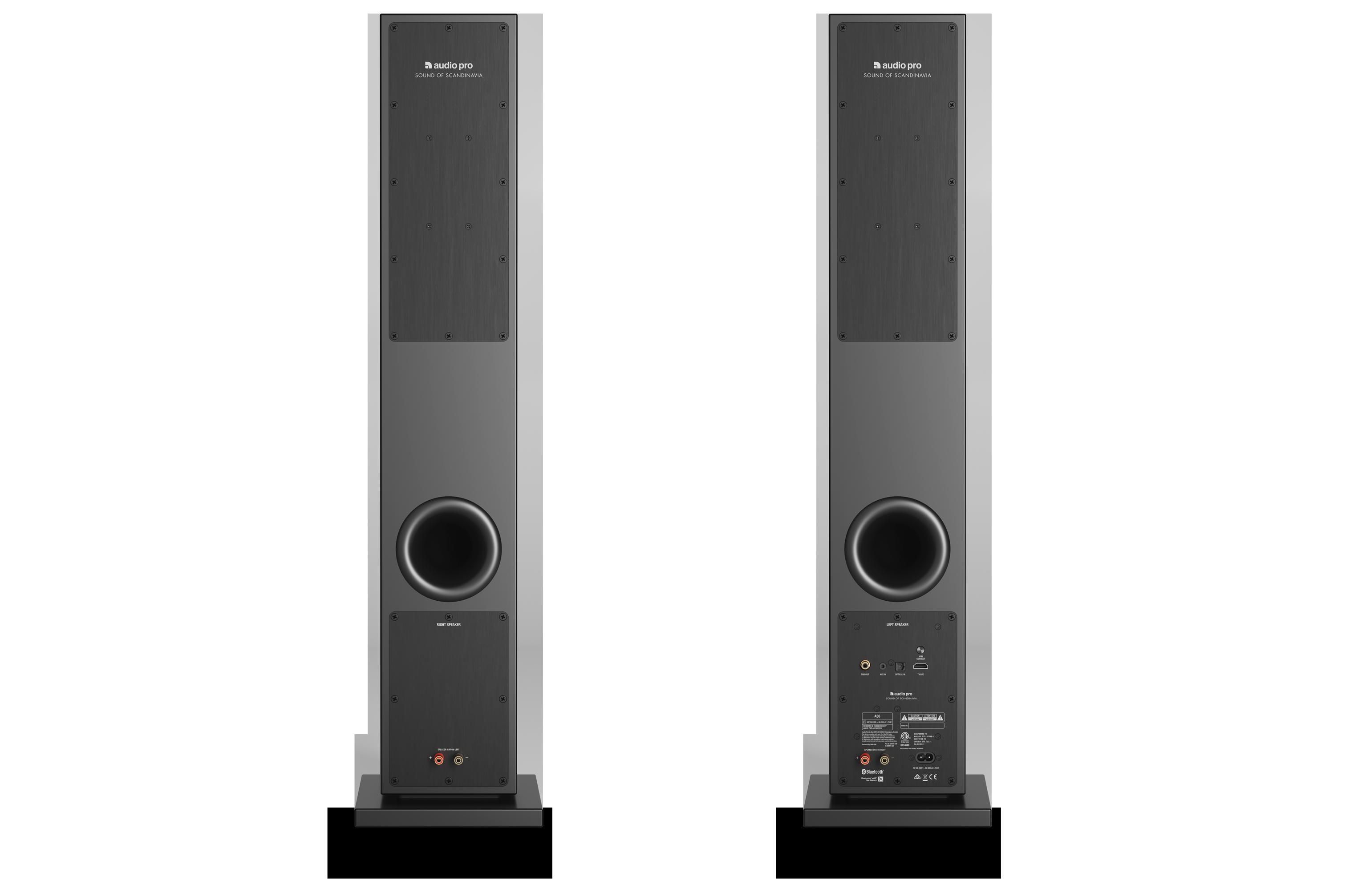 Wireless Multiroom Speaker A36 Black Back Audiopro Audio Pro